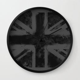 Black UK Flag Wall Clock