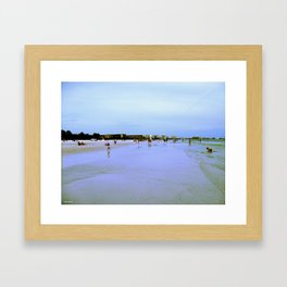 Find Me At The Beach! Framed Art Print