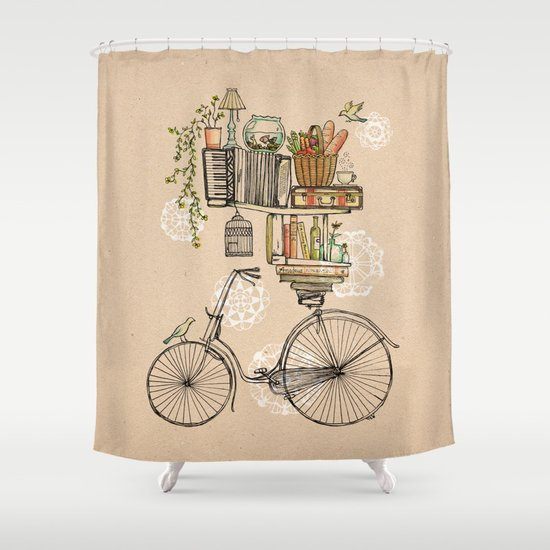 Pleasant Balance Shower Curtain