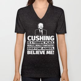 Cushing Funny Gifts - City Humor Unisex V-Neck