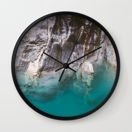 Blue Pools and the Makarora River on the West Coast of the South Island of New Zealand. Wall Clock