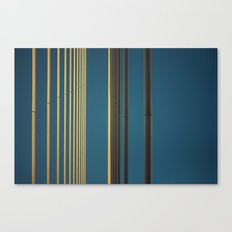 Yellow lines into the sky Canvas Print