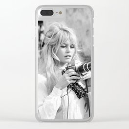 brigitte - bardot - style Clear iPhone Case