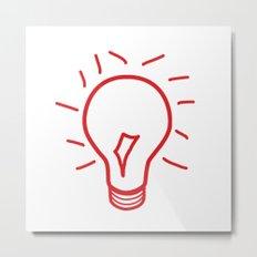 Red Lightbulb  Metal Print