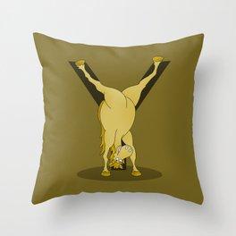 Monogram Y Pony Throw Pillow
