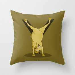 Monogram Y Pony Throw Pillow