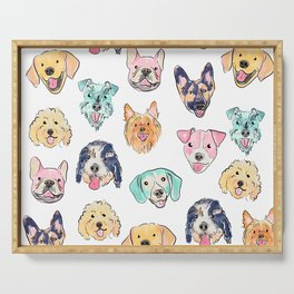 Colorful Dogs! Serving Tray