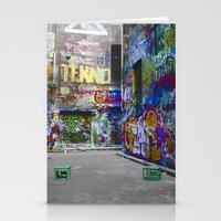 melbourne Stationery Cards featuring Melbourne Graffiti by Another Alex