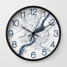Londonderry City Map of Northern Ireland - Coastal Wall Clock
