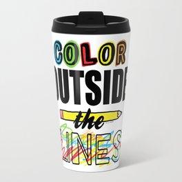Color Outside The Lines Travel Mug