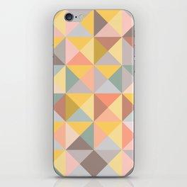 Earthy Pastels Geometric Pattern iPhone Skin