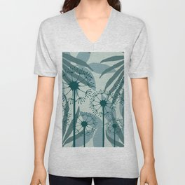 Dandelions leaves pattern pastel green #society6 Unisex V-Neck