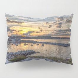 Sunset over Rockport Harbor 6-9-18 Pillow Sham