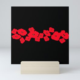 Red Poppies at Night Mini Art Print