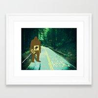 sasquatch Framed Art Prints featuring Sasquatch by John D'Amelio
