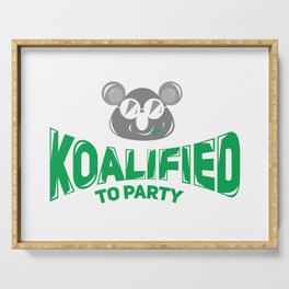Koala Bear Party Celebration Koalified to Party Serving Tray