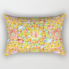 Circus Rainbow Mandala Rectangular Pillow