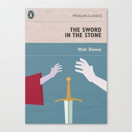 The Sword in the Stone - Movie Poster - Penguin Book version Canvas Print