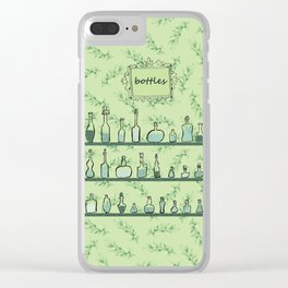 Bottles on shelves Clear iPhone Case