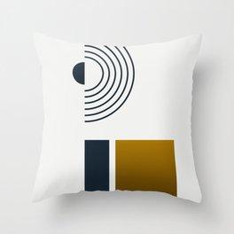 Soir 03 // Abstract Geometry Minimalist Illustration Throw Pillow