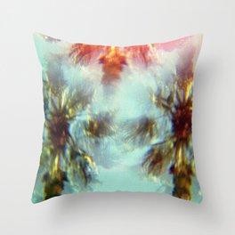 Egyptian Palm Trees Kaleidoscope Throw Pillow