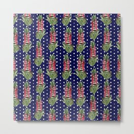 Beautiful Australian Native Flower Pattern Metal Print