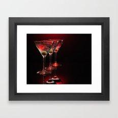 Red hot martinis. Framed Art Print