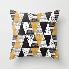 MOSAIC TRIANGLES TEXTURES 2 Throw Pillow