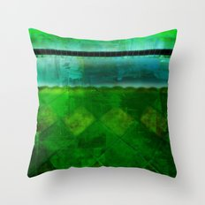 Blue and Green ~ Abstract Throw Pillow