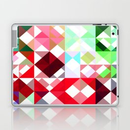 Mixed color Poinsettias 1 Abstract Triangles 1 Laptop & iPad Skin