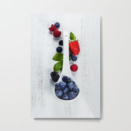 Berries with spoon Metal Print