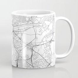 Nashville White Map Coffee Mug