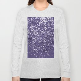 Sparkling ULTRA VIOLET Lady Glitter #1 #shiny #decor #art #society6 Long Sleeve T-shirt