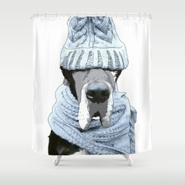 Great Dane Winter is Here Shower Curtain