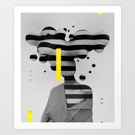 Profile Platick Art Print