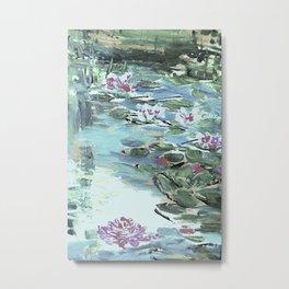 pond with waterlilies Metal Print