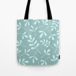 Assorted Leaf Silhouettes Teals Tote Bag