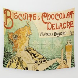 Vintage poster - Biscuits and Chocolat Delacre Wall Tapestry
