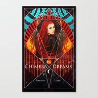 book cover Canvas Prints featuring Chimera Dreams Book Cover by Timothi Ellim