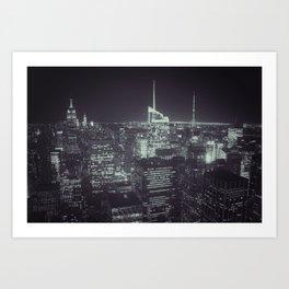 New York Skyline (Night) Art Print