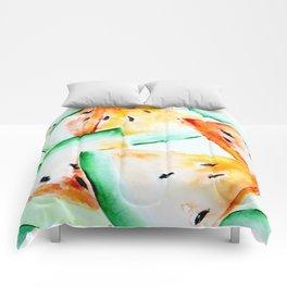 Yellow watermelon seamless pattern Comforters