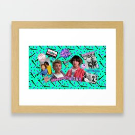 Bill and Ted Collage Framed Art Print