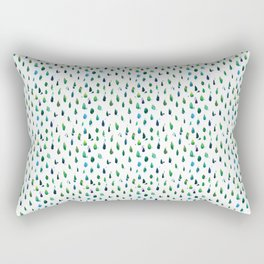Blue water drops watercolor Rectangular Pillow
