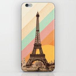 Rainbow Sky Above The Eiffel Tower iPhone Skin