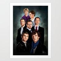 sherlock Art Prints featuring Sherlock by tillieke
