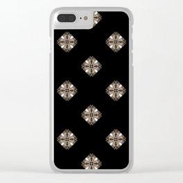 Simulated illuminated diamond pattern Clear iPhone Case