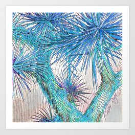 Joshua Tree VGBlue by CREYES Art Print