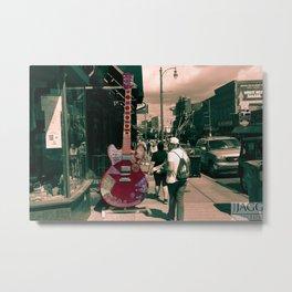 Downtown Memphis Guitar Metal Print