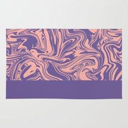 Liquid Swirl - Peach Bud and Ultra Violet Rug