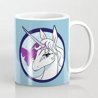 the last unicorn Mugs featuring Last Unicorn by AriesNamarie